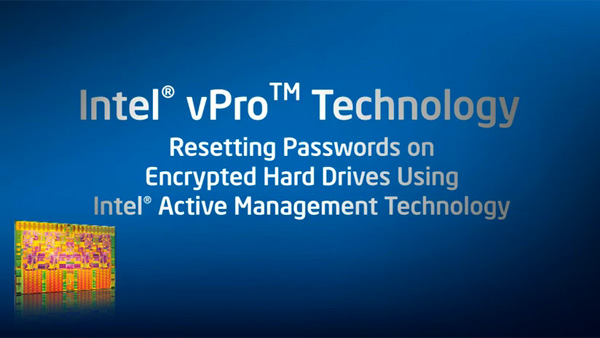 Resetting Passwords on Encrypted Hard Drives Using Intel Active Management Technology